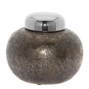 Bombonera cerámica plata