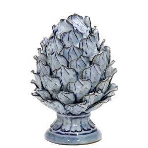 Figura cerámica azul