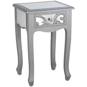 Mesa madera plata
