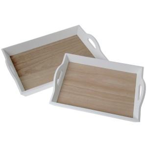 Bandejas madera blanco