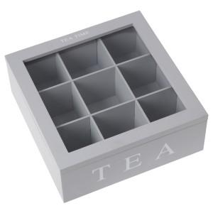 Caja cristal gris