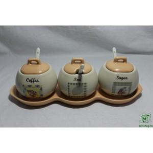 Set cerámica marron