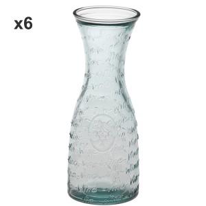 Set 6 botellas cristal transparente