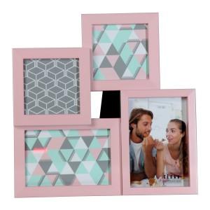 Portafotos acrílico rosa