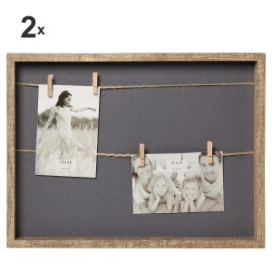 Set 2 portafotos madera dm
