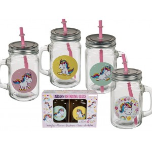 Set jarras unicornio