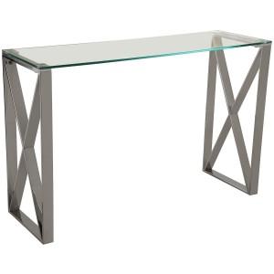 Mesa entrada metal y cristal