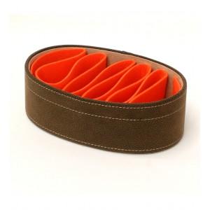 Portamandos marrón naranja