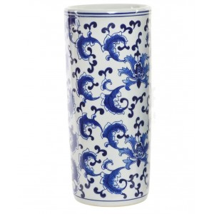 Paragüero porcelana azul