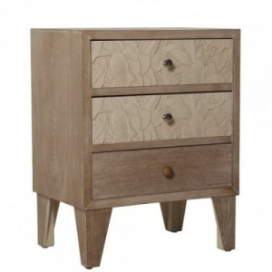 Mesa de noche color madera