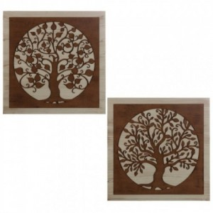 Set 2 cuadros marrón