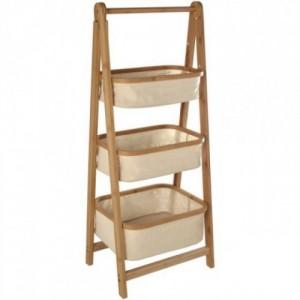 Mueble organizador bambú y crudo