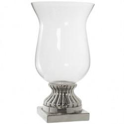 Jarrón cristal y cerámica gres