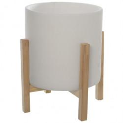 Macetero cemento y madera