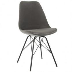 Set 2 sillas metal y terciopelo
