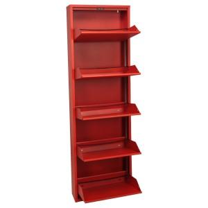 Mueble metal rojo