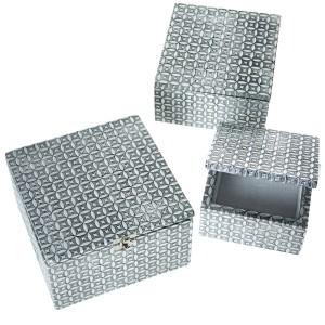 Set metal plateado