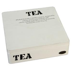 Caja madera blanco