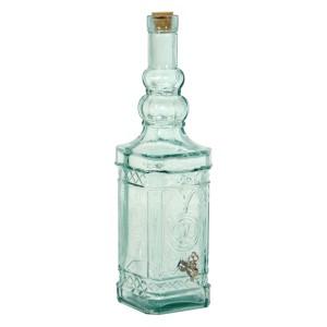 Botella cristal verdoso