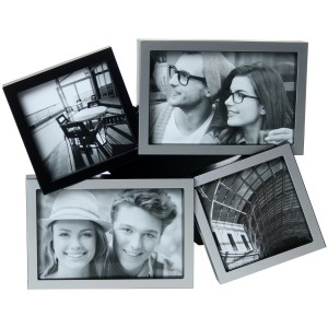 Portafotos aluminio negro