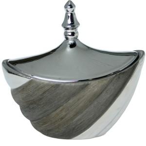 Bombonera ceramica plata