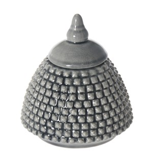 Bombonera cerámica gris